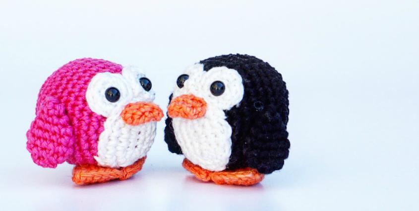 Puck the penguin amigurumi